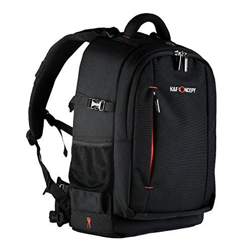 Imagen de k&f concept  [multi capa] multifuncional  para cámara réflex y accesorios, bolsa  fotográfica para canon nikon sony, color negro