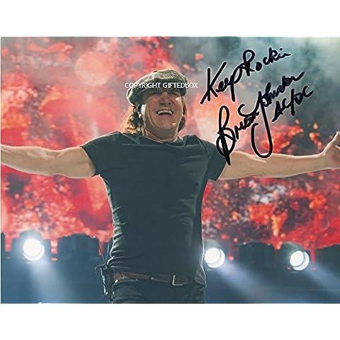 Edizione limitata Brian Johnson ACDC firmato foto + Cert Edizione Limitata, Con Autografo stampato - Ora Cd Collection