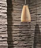 Marke New 2016Holz Modern Deckenleuchte Lampe/Classic Anhänger Light/Laser Schnitt für Innen/Lampenschirm HOME Deko Lampe/ECO Holz Kronleuchter