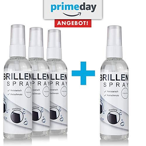 AKTION: Brillenreiniger/Brillenspray für Brillen, Lesehilfen und Sonnenbrillen - Brillenreinigung wirkt Antistatisch mit Antischmutz-Effekt - Brillenreinigungsspray (300ml)