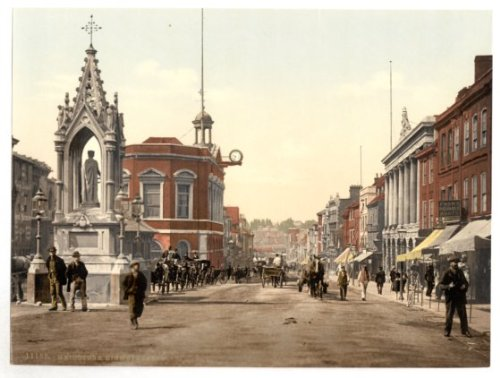 kent-maidstone-high-street-english-photochrome-epc580-superior-canvas-a3-size