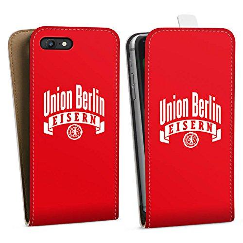 Apple iPhone 7 Tasche Hülle Flip Case 1. FC Union Berlin Fanartikel Fußball Downflip Tasche weiß