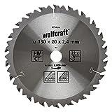 Wolfcraft 6734000 - Lama per sega circolare in MD, 22 denti, diametro: 180 x 20 mm