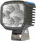 HELLA 1GA 996 288-001 Power Beam 1500, LED Arbeitsscheinwerfer, weitreichende Ausleuchtung, 6 Power LEDs, 1.300 Lumen, stehender Anbau, mattschwarz beschichtetes Aluminiumgehäuse, 12V/24V