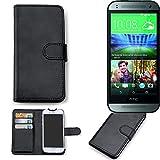 K-S-Trade 360° Wallet Case HTC One Mini 2 Schutz Hülle Smartphone Flip Cover Flipstyle Tasche Schutzhülle Flipcover Slim Bookstyle Walletcase schwarz, 1x