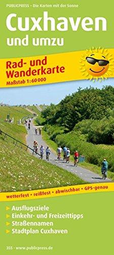 Preisvergleich Produktbild Cuxhaven und umzu: Rad- und Wanderkarte mit Ausflugszielen, Einkehr- und Freizeittipps, mit Stadtplan 1:18500, wetterfest, reissfest, abwischbar, GPS-genau. 1:60000. (Rad- und Wanderkarte / RuWK)