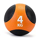 ZELUS Palla Medica di Gomma per Allenamento Pesi/Fitness/Allenamento da Pugilato/Esercizio di Presa/Forza Muscolare (Arancione 4kg)