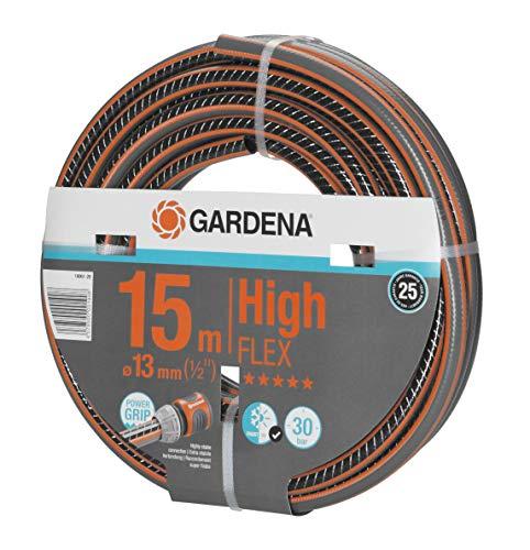 """GARDENA Comfort HighFLEX Schlauch 13mm (1/2\""""), 15 m, mit Power-Grip-Profil, 30 bar Berstdruck, formstabil, UV-beständig (18061-20)"""