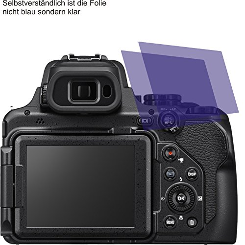 2X ANTIREFLEX Matt Schutzfolie für Nikon Coolpix P1000 Displayschutzfolie Bildschirmschutzfolie Schutzhülle Displayschutz Displayfolie Folie