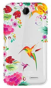 WOW Transparent Printed Back Cover Case For HTC Desire 310