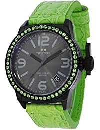 TW Steel Marc Coblen Edition mit Lederband 42 MM Grey Sunray/Green MCPR3
