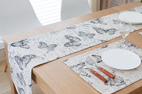 BiuTeFang Tischläufer Tischdecke Bettwäsche, Tisch, Couchtisch, Doppel, Tischdecke, Tabelle flag 30*200cm (Tabelle Quilten)