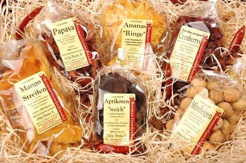 Genuss-Box Geschenksets trockenfrüchte, Naschen ohne Reue, Früchtebox, 6 Tlg.