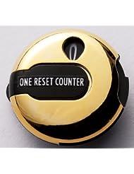 Daiya One Touch Reset - Cuentagolpes de golf con pinza para fijar en guante dorado dorado