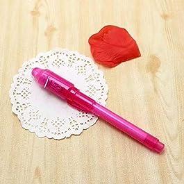 Sonline 2 X UV pennarello indelebile invisibile Sicurezza pennarello ad inchiostro invisibile & luce LED UV incorporata