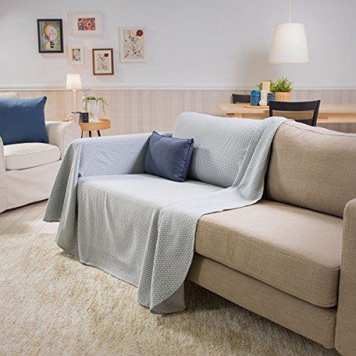 Sancarlos- Foulard multiusos GUIDO, 100% algodón suave, azul, 230x260 cm