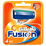 Gillette Fusion - Recambios de maquinilla de afeitar para hombre - Pack de 5 x 4 recambios