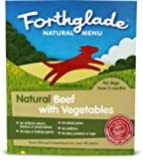 Forthglade Natural Dog Food Beef and Vegetables Menu 395 g (Pack of 18)