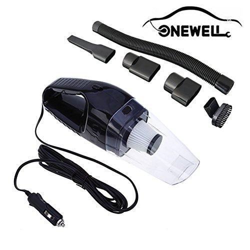 Onewell Auto-Staubsauger High Power DC 15v 150w bewegliches Hand Auto Vaccum Wet Dry 4 Kpa Saug Selbststaubsauger Werkzeuge (Schwarz)