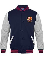 bcb1f233541b4 FC Barcelona - Chaqueta deportiva oficial para hombre - Estilo béisbol  americano
