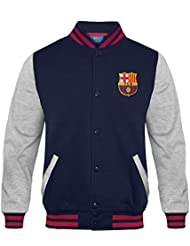 24667e24a3f52 FC Barcelona - Chaqueta deportiva oficial para hombre - Estilo béisbol  americano