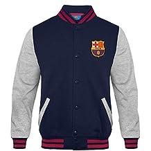 07841edfca1e5 FC Barcelona - Chaqueta deportiva oficial para niño - Estilo béisbol  americano