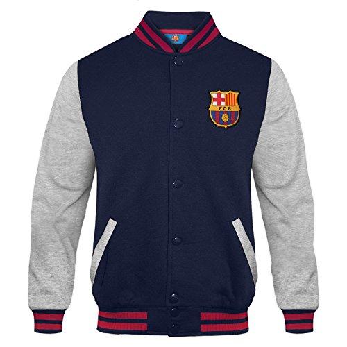 FC Barcelona - Chaqueta deportiva oficial para niño - Estilo béisbol americano - 8-9 años