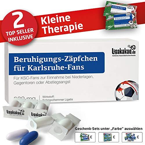 Karlsruhe SC Männer Geschenk Set ist jetzt die KLEINE Therapie für KSC-Fans by Ligakakao.de