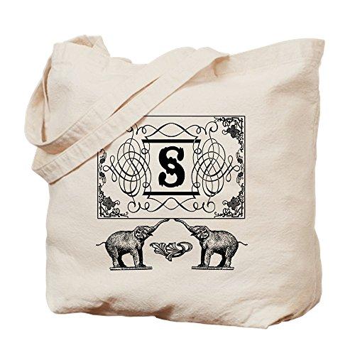 CafePress Einkaufstasche, Motiv: Elefanten mit Zirkusmotiv, Canvas, Khaki, M