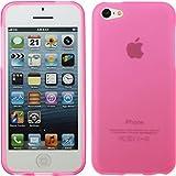 PhoneNatic Coque en Silicone pour Apple iPhone 5c - mate rose - Cover Cubierta + films de protection