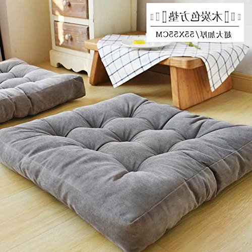 WDZA Le Coussin De Chaise Simple Office Étudiants Classe Pique-Nique Jardin Assise, 55X55Cm, Gris