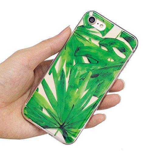 Cover iPhone 7 , YIGA Punto donda Labbra rosse Cristallo Trasparente Silicone Morbido Case Molle TPU Shell Caso Protezione Custodia per Apple iPhone 7 (4.7) WL5