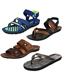 Earton Men Combo Pack of 4 (Sandals) &Floaters with slipper
