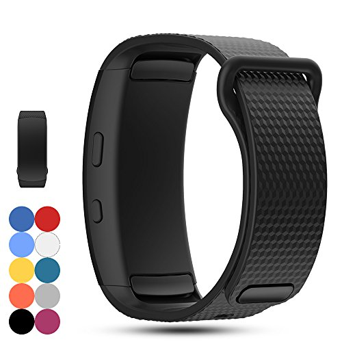 Samsung Gear Fit 2 SM-R360 Ersatz Uhrenarmband - iFeeker Zubehör Soft Silikon Armband Sportband Armband für Samsung Gear Fit2 SM-R360 Smartwatch (Fit Khaki)