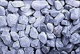 Kies Splitt Zierkies Edelsplitt Kristall Blau getrommelt, 15-25mm Sack 20 kg
