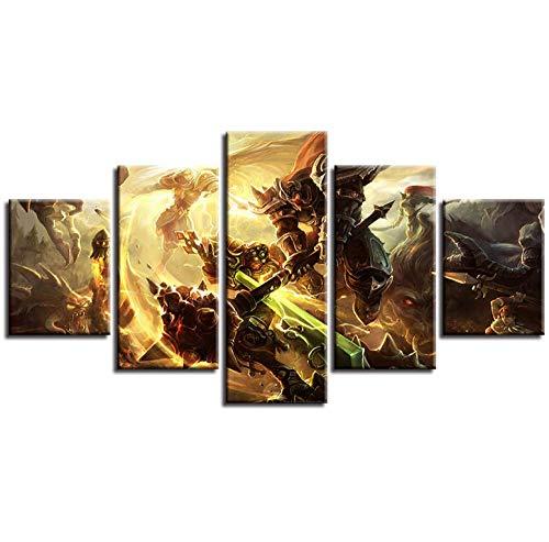 Wulian Malerei Moderne Fünf-Spiel Inkjet-Held Liga Dekorative Malerei Innenministerium Wandbild Dunhuang