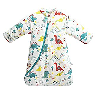 Saco de dormir para bebé de invierno, saco de dormir para niños, 3,5 tog, saco de dormir de algodón bio, diferentes tamaños desde el nacimiento hasta los 4 años