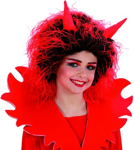Kostüm Devilina - Widmann 6260V - Perücke Teufel Kindergröße