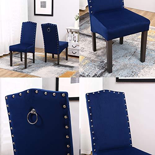 Generic Esszimmerstühle, Samt, 2 Stück königsblau -