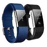 Fitbit Charge 2 Cinturino, Aahlsen TPE Soft Silicone Fitness Braccialetto da Polso Bande Sportive Sostitutive Regolabili per la Carica Fitbit 2 Classic Wristband
