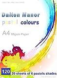 Carta A4colori assortiti pastello 120fogli (80GSM)