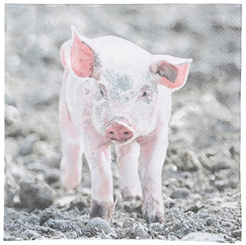 Esschert Design TP180 Cochons Serviettes en Papier - Rose