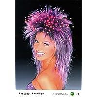 Qubeat Wig women long lila Mullet Carnival Carnival 80
