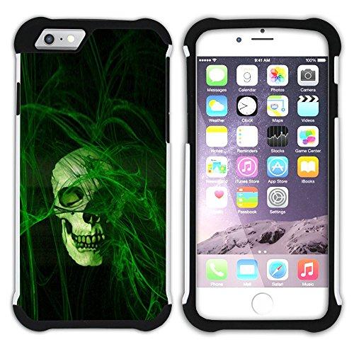 Graphic4You Skull Death Theme Muster Design Hart + Weiche Kratzfeste Hülle Case Schale Tasche Schutzhülle für Apple iPhone 6 Plus / 6S Plus Design #3