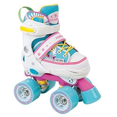 HUDORA Rollschuhe Kinder Mädchen Skate Wonders, verstellbar, Roller-Skates, Disco-Roller, Gr. 28-35
