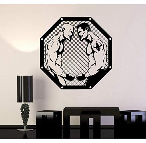 yangshuang adesivo da parete carta da parati guerriero fan arti marziali sport battaglia adesivi in   vinile, gabbia ottagonale, boxe sanda, arti marziali decorazione 57x57cm