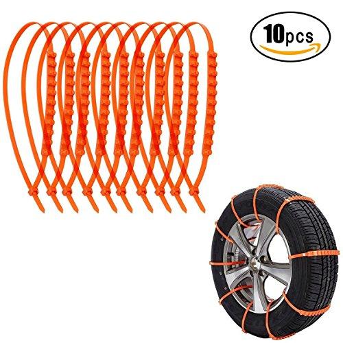 Kyerivs anti-skid Traction fango di emergenza auto Cavo gomma antiscivolo catene da neve per SUV Van in nylon flessibile pneumatico per l