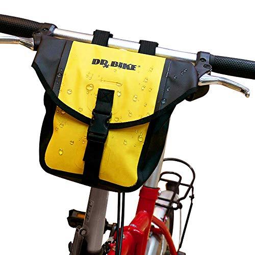 HILAND DRBIKE Fahrradtasche Vordertasche Rahmentasche Lenkertasche - wasserdichte Gepäckträgertasche für Fahrrad MTB gelb