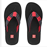 Bourge Men's Canton-21 Black Slippers-7 UK (41 EU) (8 US) (Canton-21-07)