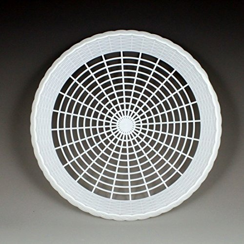 Plastic 9 Paper Plate Holders in White Maryland Plastics, 8 plate holders per unit by Maryland Plastics